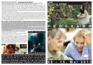 09 - 15. Mai 2013 P R O G R A M M - Central-Kino