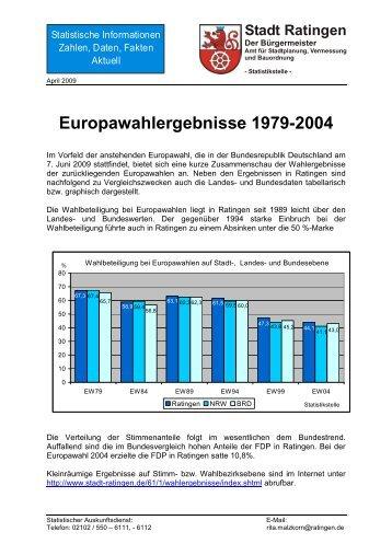 Statistische INFORMATIONEN MONATSBLATT ... - Stadt Ratingen