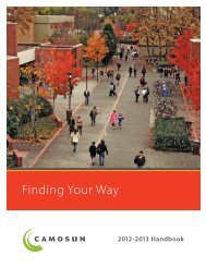 Finding Your Way - Camosun College