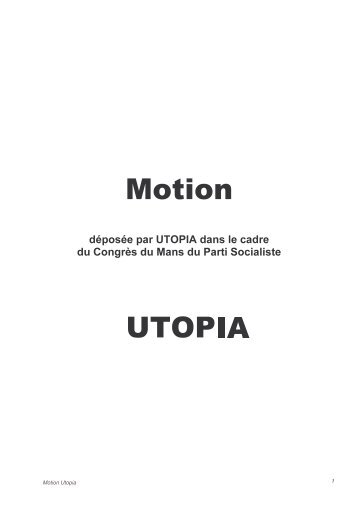 Motion Utopia - Le Monde