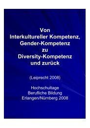 Von Interkultureller Kompetenz, Gender-Kompetenz zu Diversity ...