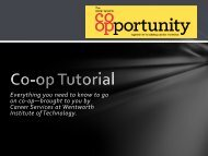 Co-op Tutorial - Wentworth Institute of Technology