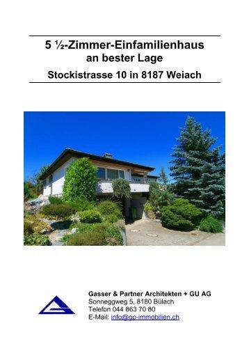 5 ½-Zimmer-Einfamilienhaus - Bonello & Partner Immobilien GmbH