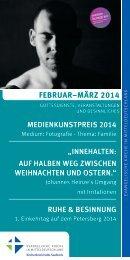 Monatsprogramm des Evang. Kirchenkreises Halle-Saalkreis: Februar-März 2014