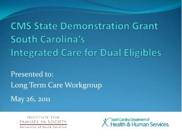 Dual Eligibles Demonstration Grant Overview