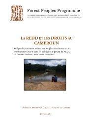 Projets sous-nationaux de REDD - Forest Peoples Programme