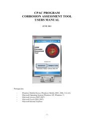 cpac program corrosion assessment tool users manual