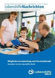Ausgabe 3/2013 - Lebenshilfe Berlin