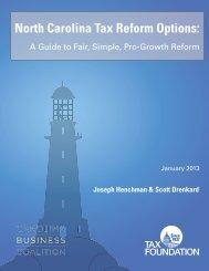 PDF: North Carolina Tax Reform Options - Tax Foundation