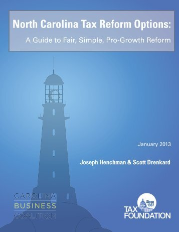 PDF: North Carolina Tax Reform Options - Tax Foundation