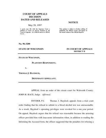 State v. Thomas J. Haydock - Justia