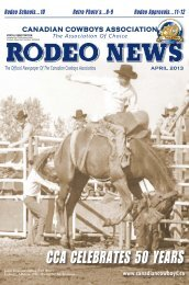 PDF Version of March 2013 CCA Rodeo News Edition - Canadian ...