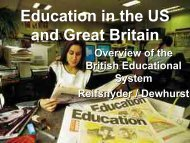 Education in the US and Great Britain