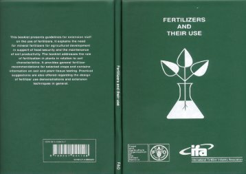 Fertilizers and their use - FAO.org