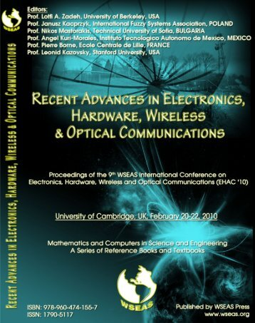 (EHAC '10) University of Cambridge, UK February 20-22 ... - Wseas.us