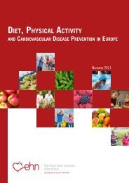 Diet, Physical Activity and Cardiovascular Disease Prevention in ...