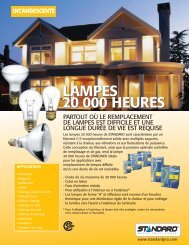 lampes 20 000 heures lampes 20 000 heures incandescente - Lumco