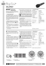 Istruzione per l'uso (DM5000LN) - Monacor
