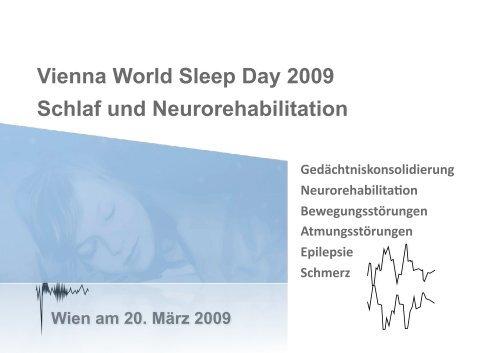 World Sleep Day 2009 Programm 25.2.2009 - Österreichische ...