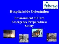 Hospitalwide Orientation - Trinitas Hospital