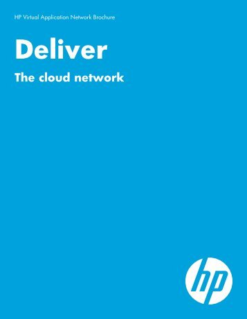Deliver the cloud network - HP Networking
