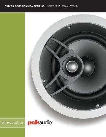 caixas acústicas da série sc som incrível, preço acessível - Polk Audio