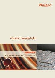 Flächenheizung für Gussasphalt - Wieland Haustechnik