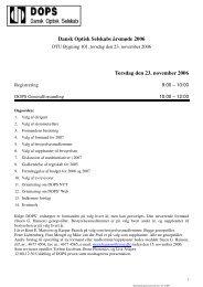 Dansk Optisk Selskabs årsmøde 2006 Torsdag den 23 ... - DOPS