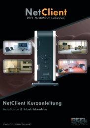 Reel Multimedia - Kurzanleitung Reel NetClient ... - Aerne Menu