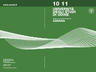 Guida ai corsi a.a. 2010/11 - Università degli studi di Udine