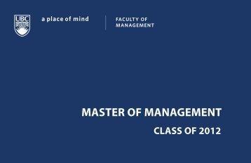 2012 Alumni Prospectus - University of British Columbia