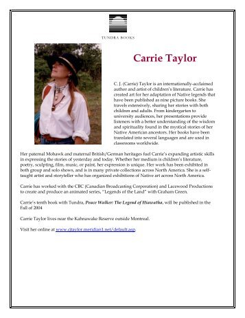 Carrie Taylor - Tundra Books