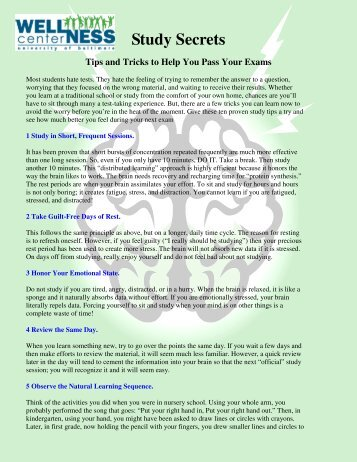 Study Secrets Tips and Tricks to Help You Pass Your Exams