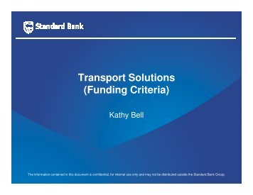 Transport Solutions (Funding Criteria) - IMPERIAL Logistics