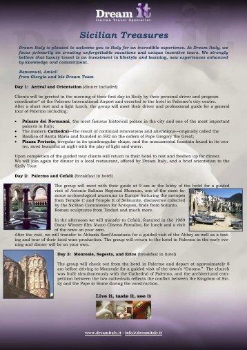 Sicilian Treasures - Dreamitaly.It