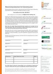 Warenrücksendeschein für Endverbraucher - enermax24.de