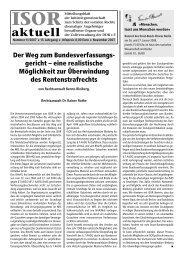 ISOR aktuell Ausgabe 11 / 2007 Seite 1 - 3