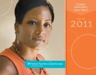 FY2011 Annual Report - Planned Parenthood