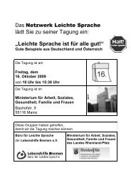 Leichte Sprache ist für alle gut! - Netzwerk People First Deutschland ...