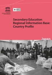Secondary education regional information base: country profile; Japan