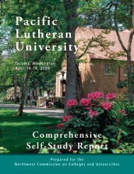 April 2008 Accreditation Report - Pacific Lutheran University