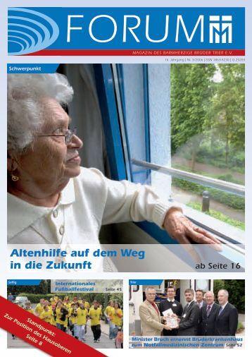 Altenhilfe auf dem Weg in die Zukunft - Barmherzige Brüder Trier e. V.