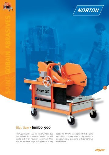 Bloc Saw Jumbo 900 - Norton Construction Products
