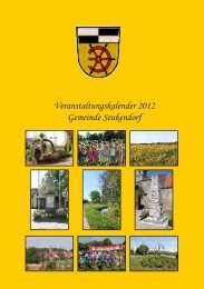 Veranstaltungskalender 2012 Gemeinde Seukendorf