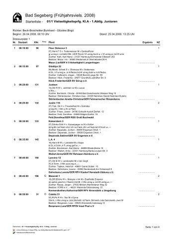 Prüfung 1-1 Abtlg. / Contest 1 class 1