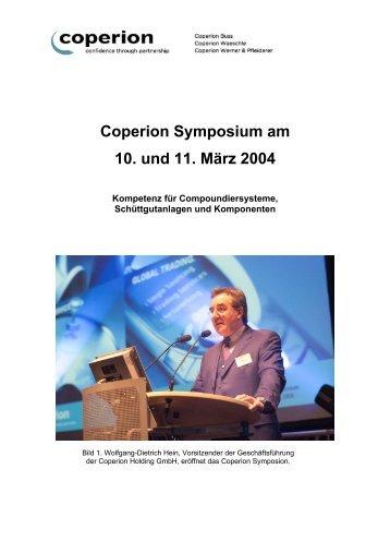 Bilder zum Coperion Symposium am 10. und 11. März 2004 ...