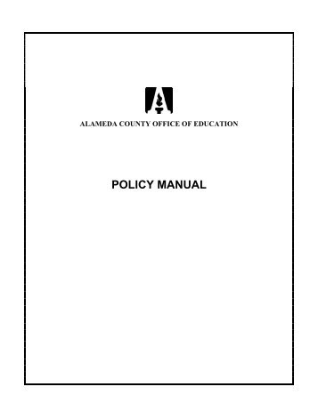 POLICY MANUAL - Alameda County Office of Education