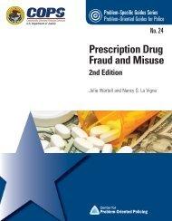 Prescription Fraud - Center for Problem-Oriented Policing