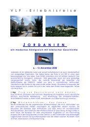 Jordanien - Reiseangebot - Verein zur Förderung der Land