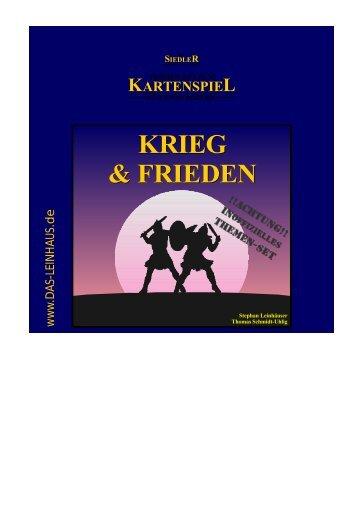 KRIEG & FRIEDEN KRIEG & FRIEDEN - Das Leinhaus